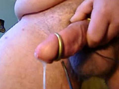 Cum from electrostimulation