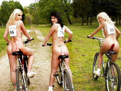 Sluts on dildo bikes