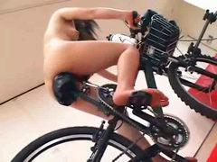 Sex dildo-bike
