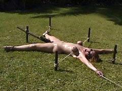 Outdoor torture of slave