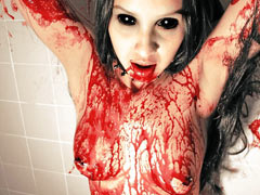Bloody torture of girl