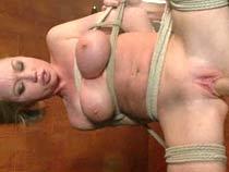 Hard bondage added to sex