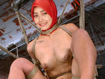 Muslim girl tied up