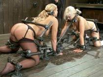 Two girls locked