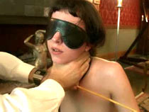 Slave is stuffed and whipped