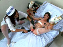 Teaching the nurse a lesson with bondage
