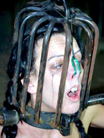 Cage on her head
