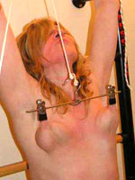 Clamps electro and needle play for nipples