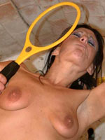 Brunette sub gets electro play