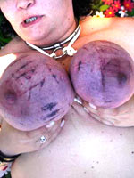 Exciting and dangerous breast torture