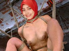 Muslim girl tied up