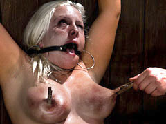 Blonde sub gets pain