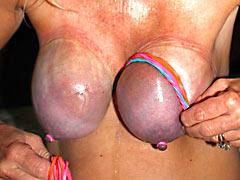 Masochistic pain for tits
