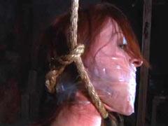 Hanged girl in yellow dress