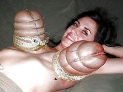 Huge boobs tied hard