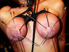 Long needles in nipples