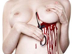 Cutting of boobs