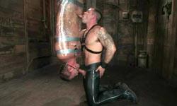 Mummified slave tortured
