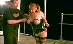 Forced blindfolded felatio