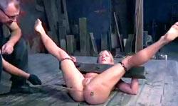 Suffering of torturd slave
