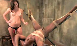 Domina takes sub for a ride