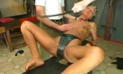 Hot fetish model pussy spanking