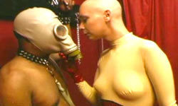 Bald Mistress training slave