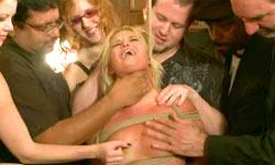 Blonde in public disgrace