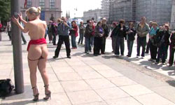 Blond fucked and humiliated in Public Disgrace