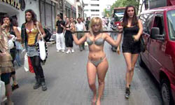 Slave taken to the streets to be humiliated