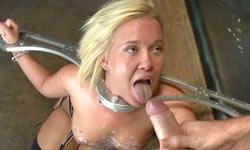 Dog play bondage and anal sex