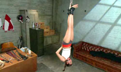 Cruel coach tied up cheerleader