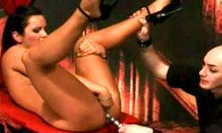 Brunette tortured