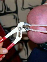 Nipple torture during sexual play