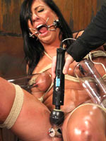 Tiffany pinned poked and cumming in bondage
