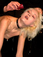 Blonde tortured  in doggie style
