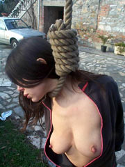 Teen hung by her neck