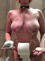 My toilet slave