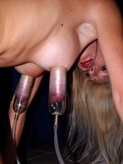 Vacuum pulling of tits