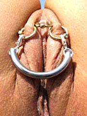 Piercing rings on labia