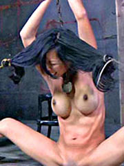 Asian girl shackled in pain