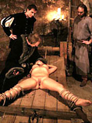 Torture devices in the medieval dungeon