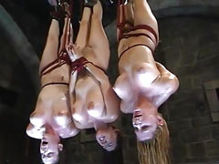 Slaves hanged upside down
