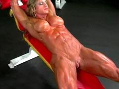Bodybuilder slave