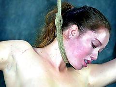 Hanged sub girl
