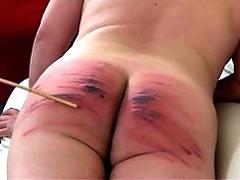 Cruel caning till bruises