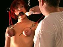 Breast bondage pain
