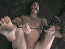Orgasm in steel bondage