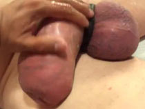 Huge cock jerking