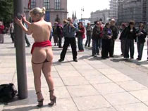 Blond fucked and humiliated in Public Disgrace video